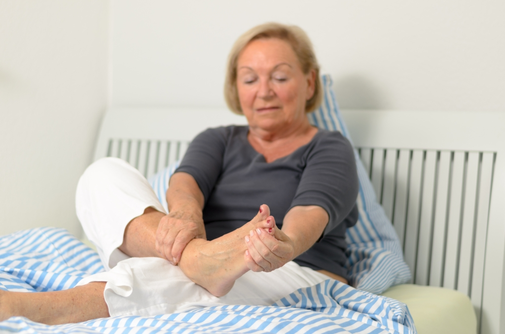 Older woman in pain